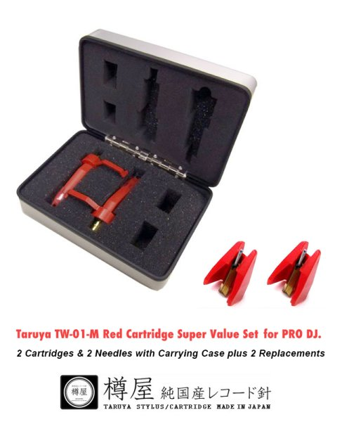 Photo1: Taruya TW-01-MSP Red 2 Cartridges & 2 Needles with Carrying Case plus 2 Replacements. (1)