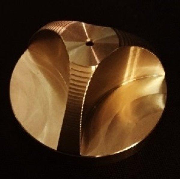 "Photo1: Taruya Brass Adapter Insert 45 RPM 7"" vinyl for DJ Play (1)"